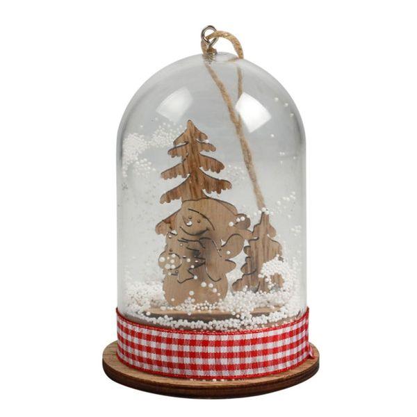 Weihnachten hängenden Ornament Micro Landschaft mit Licht Weihnachtsbaum Dekorationen für Home Party Decor Geschenk Festival liefert