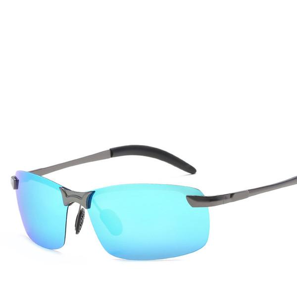 Men Polarized Sunglasses Women Classic Driving Outdoor Sports Rimless Metal Polarized bicycle Sunglasses Male Goggle UV400
