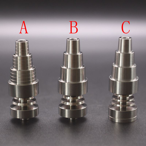 best selling Titanium Nail 10mm&14mm&19mm Joint 2 IN 1 4 IN 1 6 IN 1 Domeless Titanium Nail For Male and Female DHL
