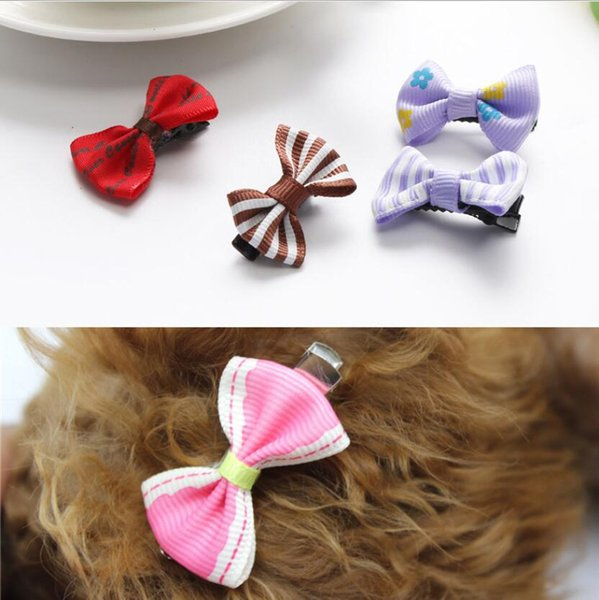 20 pcs/set Pet supplies dog hair clips cat hair accessories bow clips teddy kitten head flower pet grooming decoration