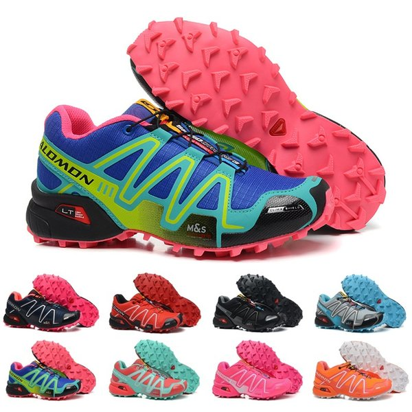 2018 Salomon Peedcross 3 Trail Best Quality Women Outdoor Cheap Running Shoes An Jogging Sports Fashion Sneakers Outdoor Walking US5-9
