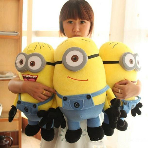 best selling Despicable ME Movie Plush Toy 18cm Minion Jorge Stewart Dave Minions 3D eyes plush toys with tags free shipping Free Delivery