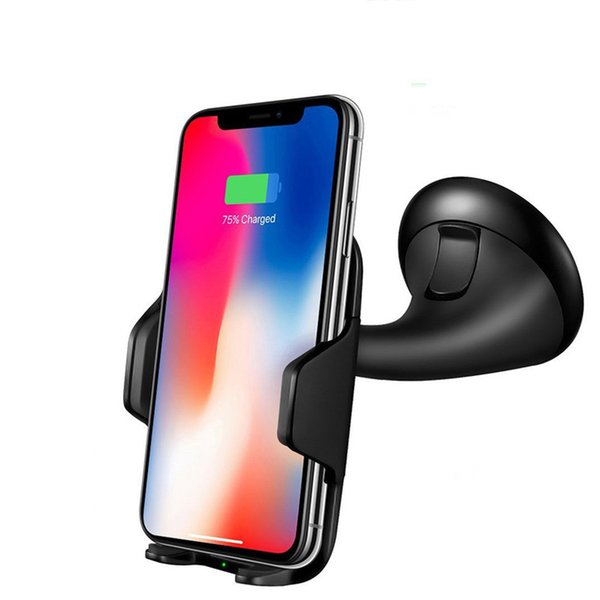 Savorigroup W12 Good Quality Qi System Universal Fast Wireless Mobile Car Charger Phone holder car mount for cellphone