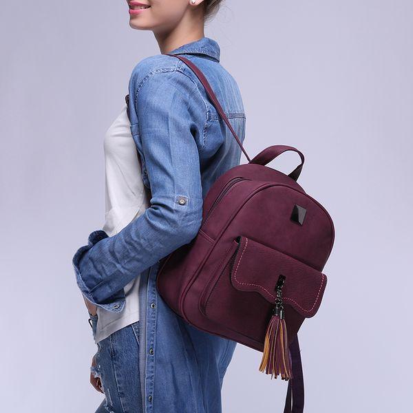 Mochilas escolares para alumnas Mochilas con asa superior Mocasines Mochila Mujer Perfect Trenes estrechos Art Leather Girls Bags