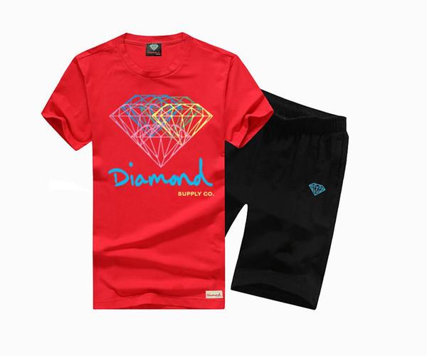 Top qualidade do algodão homens O-pescoço t-shirt de manga curta cópia do diamante camisa casual T para o tamanho homens S-XXXL LT12