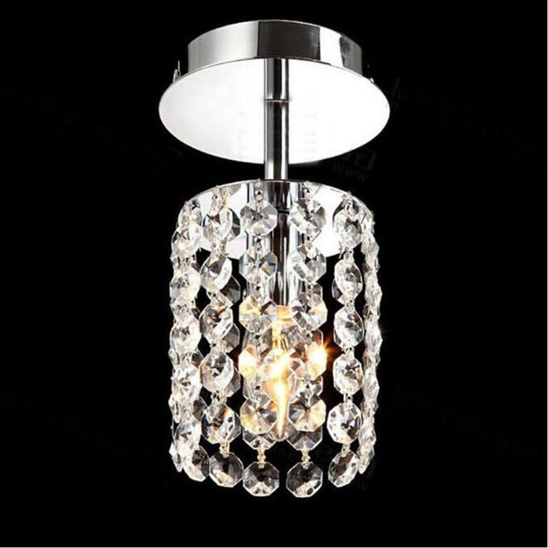 New Lamp Led Crystal Chandeliers Aisle Bedroom Stainless Steel Chandelier Led Lamp K9 Crystal Lustre Light Chandeliers Chandelier Table Lamps Black