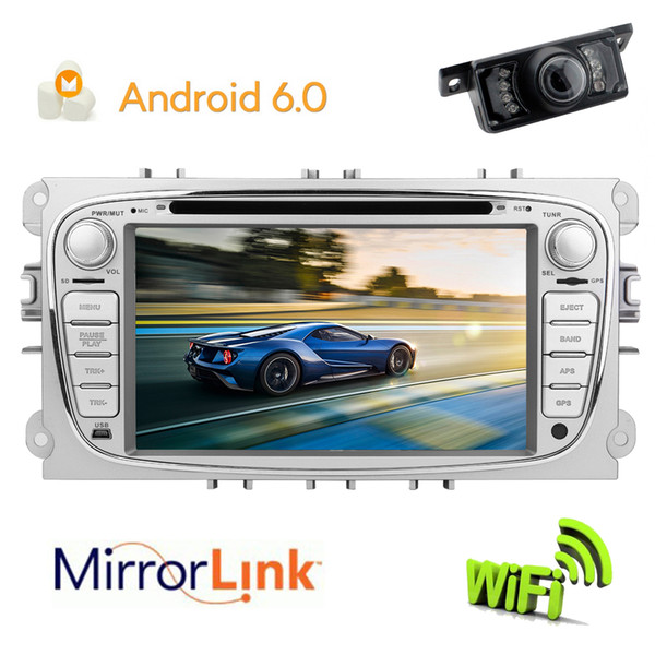 Eincar Android 6.0 OS Quad Core Car Radio Double Din Stereo Headunit for Ford Focus GPS Navigation Mirror-link SWC car DVD Radio