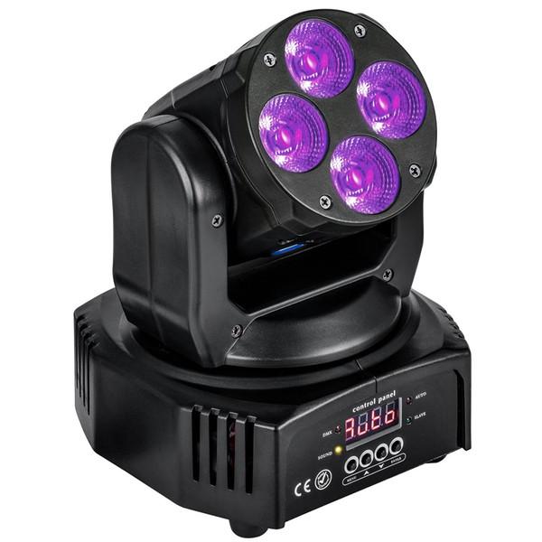 best selling 4X10W Mini LED Moving Head Wash light DMX512 RGBWA+UV 6in1 for Wedding Christmas Birthday DJ Disco KTV Bar Event Party Show