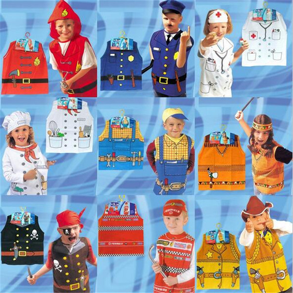 Halloween cosplay costume child role-playing clothes firefighters party chef service engineer Halloween costume for kids