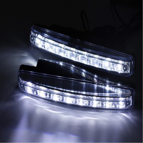 2 Teile / los Auto Styling Autos 8LED Tagfahrlicht Autos DRL Der Nebel Fahren Tageslicht LED Lampen Für Automatische Navigationslichter