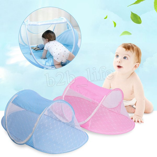 2 pcs Mosquito Net Tent Portable Baby Crib Multi-Function Cradle Bed Infant Foldable Mosquito Netting for Girls Bed MMA196