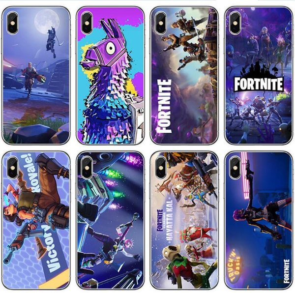 Christmas Gift Fortnite Cell Phone Case FPS Game Designer Soft TPU Cases Back Cover for iPhone XS MAX XR X 8 7 6 Plus Samsung note 9