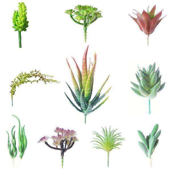 High Quality10pcs /Set Fake Cactus Artificial Succulents Plants Christmas Ornaments Decorations For Home Most Popular