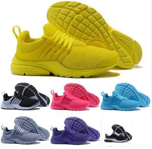 TOP PRESTO 5 BR QS Respirez Noir Blanc Jaune Rouge Hommes Chaussures Sneakers Femmes Enfants Running Chaussures Chaud Hommes Chaussure De Sport Marche chaussures de créateurs