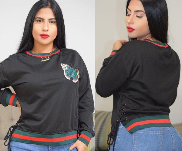 Vêtements pour femmes Pulls à rayures vertes rouges Poulet pour les yeux avec oeil papillon Pull à manches longues