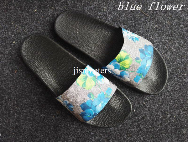 factory outlet fashion red green blue flower blooms print slide sandals for mens and womens summer outdoor beach causal flip flops