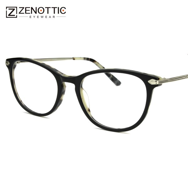 Retro Tortoise Acetate Eyeglass Frames For Women Spectacles Clear Frame Glasses For Computer Popular Eyewear Accessories BT4002