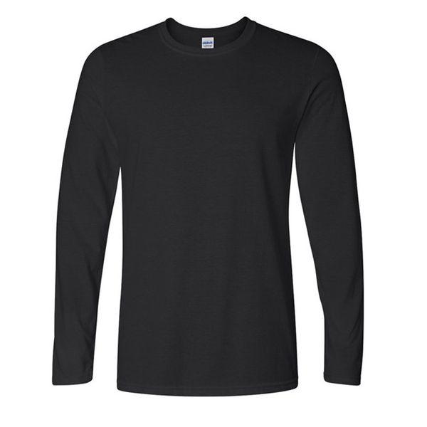 Classic Men T shirt Long Sleeve O neck Mens T-shirt Cotton Tees Tops Mens Brand tshirt Plus size XS- XXL Sweatshirts