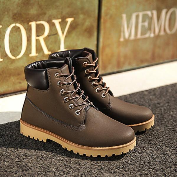 Acheter Chaussures De Sport Haut De Gamme Pour Hommes Chaussures De Sport Pour Hommes Martin Bottes De Haute Qualité Confortable Antidérapant