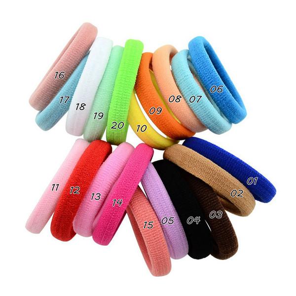 Şeker Renk Naylon Kafa Kız Saç Aksesuarları Elastik Kafa Bandı Çocuk Çocuk Moda DIY El Yapımı Şapkalar Pony Tails Tutucu