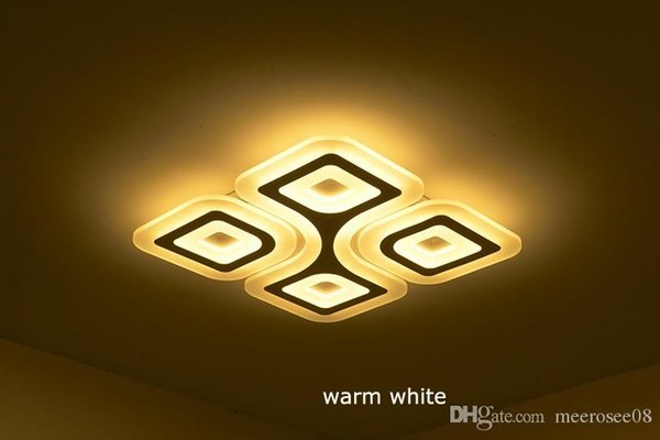 LED Super-thin Ceiling Lamps 4/6Heads Modern Living room Ceiling Light Rectangular Bedroom Luminaire Restaurant Lighting
