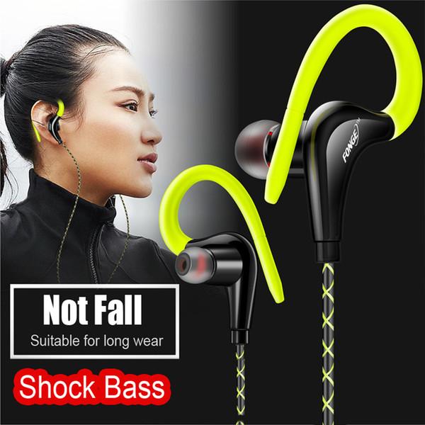 Fonge Auricular S760 Estéreo Super Bass Auriculares Auriculares Gancho para la oreja Auriculares Auriculares para correr Con micrófono para iphone Samsung Xiaomi
