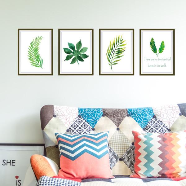 Yeşil Bitki Fotoğraf Çerçevesi Duvar Çıkartmaları Oturma Odası Ev Dekor 50 * 70 cm Duvar Çıkartmaları Pvc Posteri Diy Duvar Sanatı