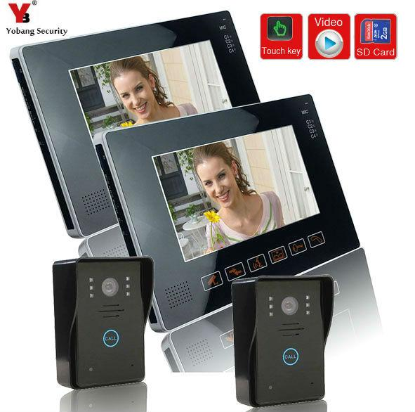 YobangSecurity 9 Inches Wired Video Doorbell Door Chime,Rainproof Door Phone with Video Recording and Photo Taking Function