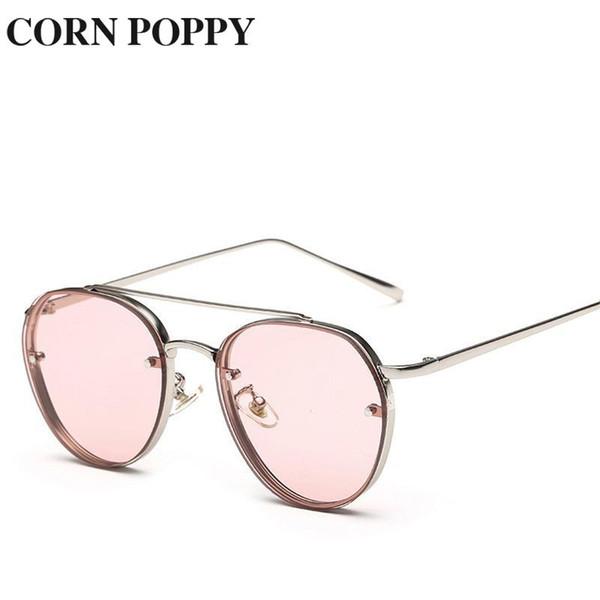 New European and American fashion sunglasses, fresh sea film sunshade, ladies sunglasses uv protection Women Spectacles