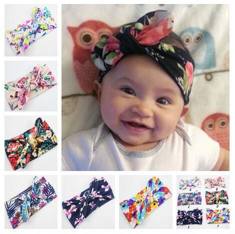 Neugeborenes Baby Floral Headwear Shabby Infantile Bogen Stirnband Elastische Kinder Mädchen DIY Haarschmuck Für Party