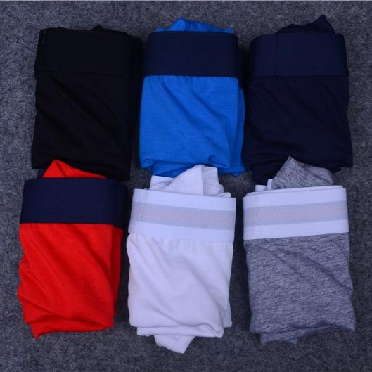 Fashion Brand Mens Underwear Boxers Letter Sexy Soft Cotton Underpants Sports Casual Underwears For Men Boys 6 Color 4 Size Free Shipping 64