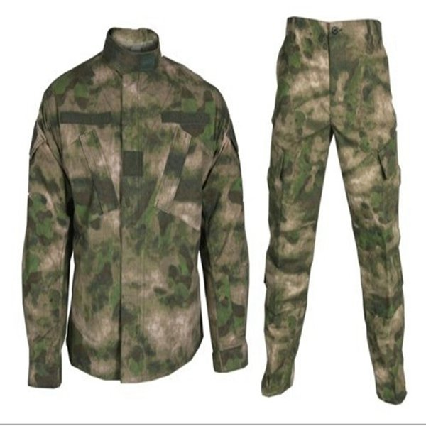 Outdoor A-TACS FG Camouflage Hunting Training Tactical Uniform Clothing Combat Sets Jacket Pants Hunting Hiking Clothes