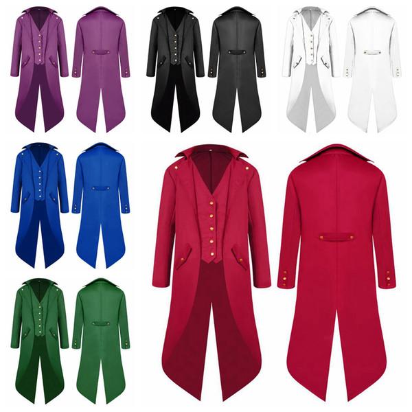 Tuxedo da uomo Abito formale Cappotto coda di rondine Mantello classico Blazer gentiluomo Abbigliamento Banchetto Costume 6 colori NNA728