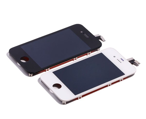 For Iphone 4, 4S LCD Display Touch Digitizer Complete Screen with Frame Assembly Replacement DHL Free Shipping