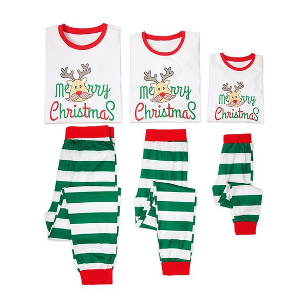 Family Christmas Pajamas Set 2018 Family Matching Sleepwear Clothes Mother Daughter Father son Outfits Look Nightwear