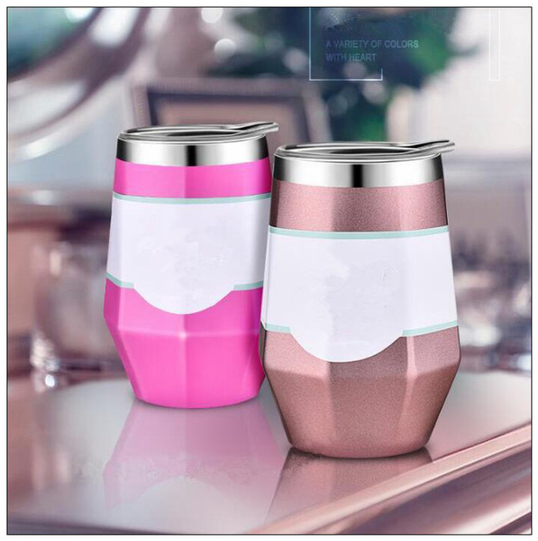 5 Colors 9oz Egg Cups Wine Glass Double Wall Stainless Steel Beer Mug Vacuum Insulated Mug Coffee Wine Cups Car Mugs CCA9996 20pcs