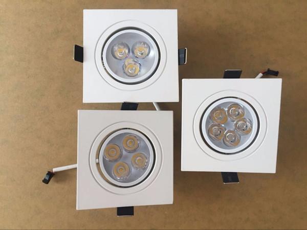 1pcs carré Dimmable Led downlight light Plafond Spot Light 6w 8w 10w ac 85-265V plafonnier encastré Lumières Éclairage Intérieur