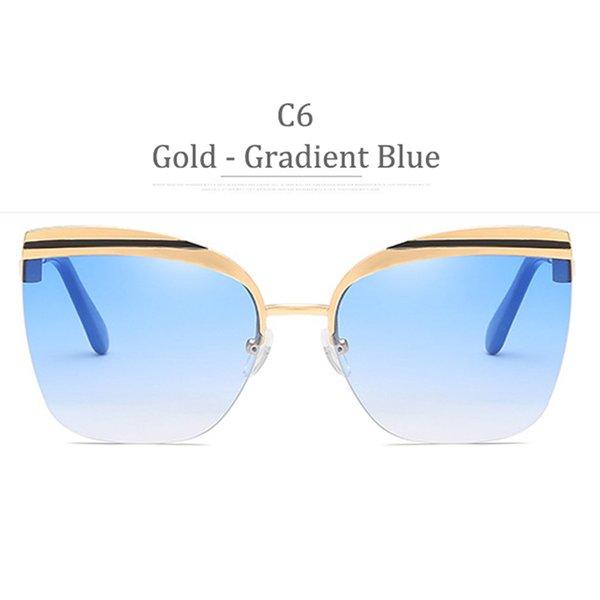 C6 Gold Frame Gradient Blue
