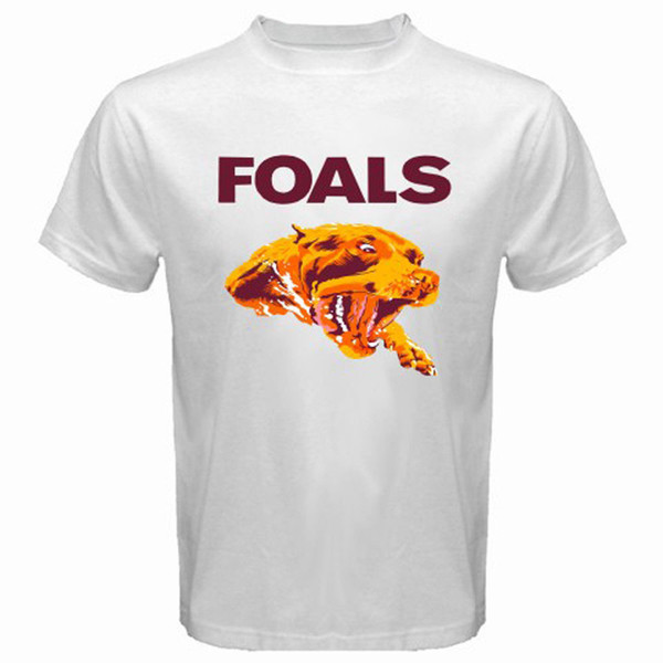 New Foals Rock Band Poster Logo T-shirt bianca da uomo taglia S a T-Shirt 3XLSummer uomo stampa