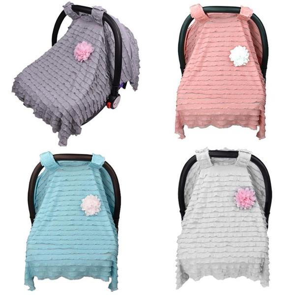 Cor pura Canopy Cobertor Para Carrinho De Bebê Carrinho De Bebê Pram Tampa de Assento Do Carro Respirável Sombra Sol Sono Buggy Covers Moda 16xd BB