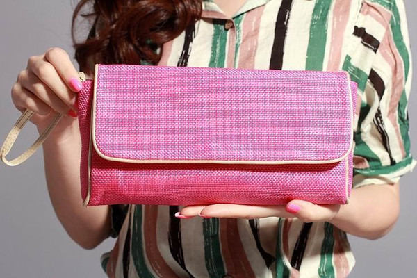 H1259 fashion woven handbags clutch bag large-capacity cosmetic bag wash bag special clearance