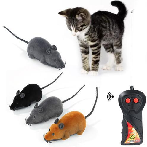 Cat Toy Wireless Remote Control Mouse Electronic RC Mice Toy Pets Cat Toy Mouse For Kids Toys Novelty Items CCA10662 50pcs