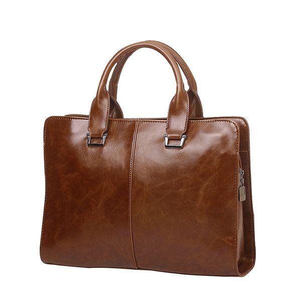 gcrossbody bags for men leather vintage briefcases bags laptop messenger shoulder 14 inches handbags