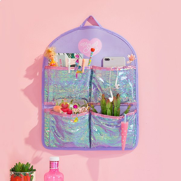 Protable PVC Hanging Organizer Toiletry Bag Wall Mounted Travel Makeup Cosmetic Cases Wash Storage Bag Shower Pouch 6 Pockets