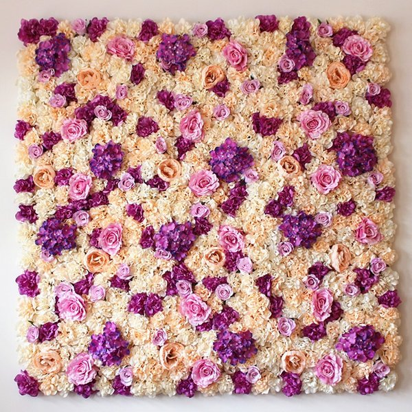 Beautiful wedding flower wall for stage flower backdrop wedding artificial flower decoration rose hydrangea