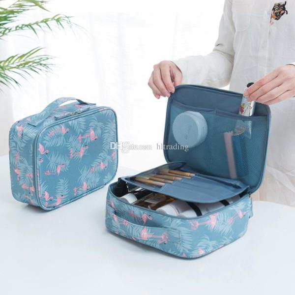 Frauen Flamingos Zitrone Kosmetiktaschen Streifen Blumen drucken Aufbewahrungsbeutel Mama Windel Tasche Reise Make-up Tasche 19 Farben C4418