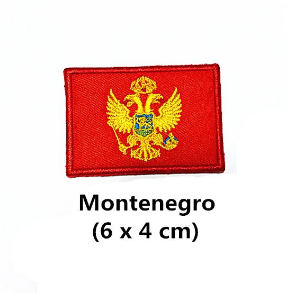 3 x 2 Montenegro Flag-Patch-