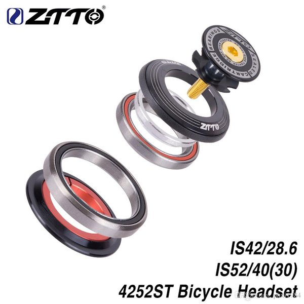 "ZTTO 4252ST MTB Bike Road Bicycle Headset 42 41.8 52mm 1 1/8 ""1 1/2"" Tapered Straight fork integrated Angular Contact Bearing"
