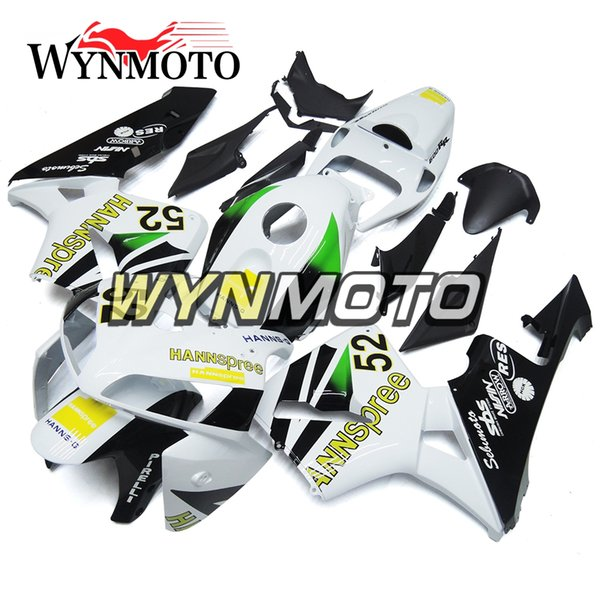 Хорошее качество обтекатели ABS впрыска кузова для Honda CBR600RR F5 Год 2005 2006 05 06 комплект обтекателя серебряный черный обвес
