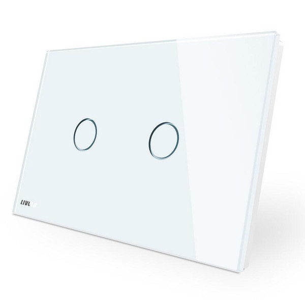 High Quality Wall Switch Wholesale, 110~250V, Ivory White Glass Panel, AU/US Standard Touch Light Switch VL-C902-11 with LED indicator